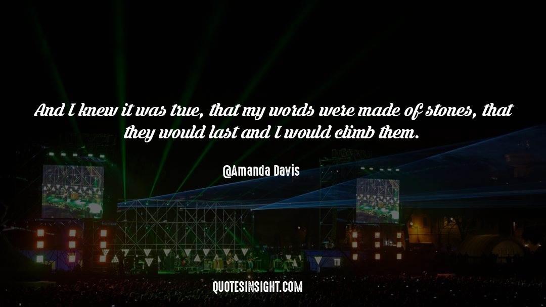 Amanda Davis Quotes #877701
