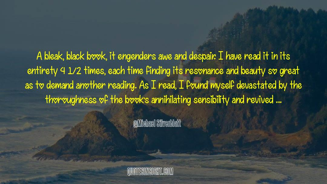 4 quotes by Michael Silverblatt