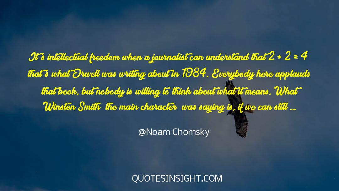 4 quotes by Noam Chomsky