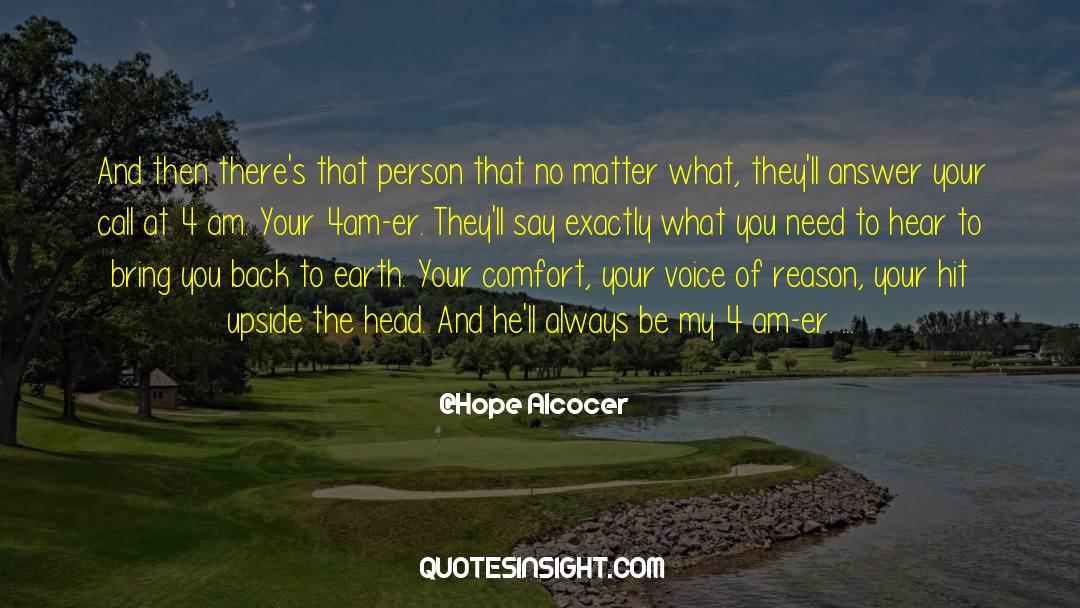 4 quotes by Hope Alcocer