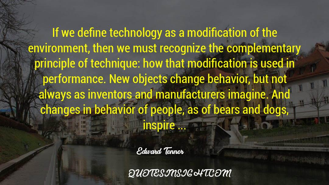4 quotes by Edward Tenner