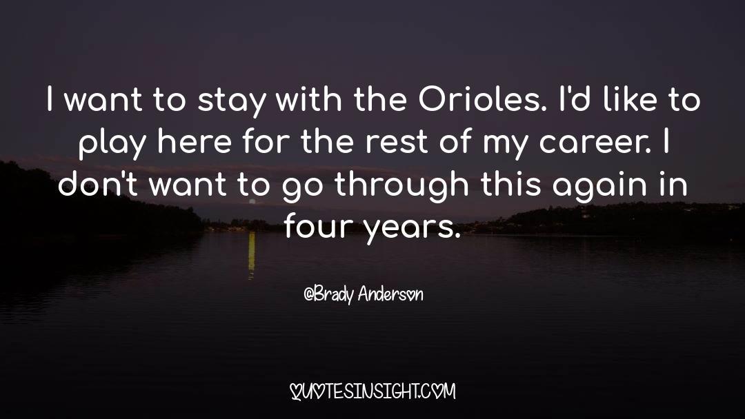 Brady quotes by Brady Anderson