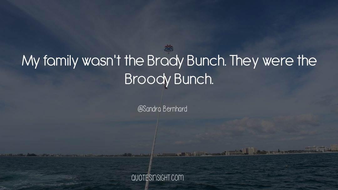 Brady quotes by Sandra Bernhard
