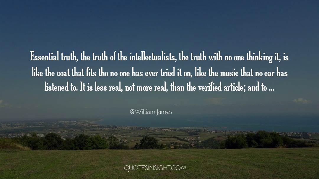 Coat quotes by William James
