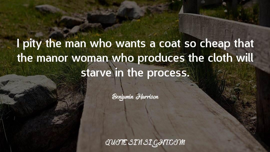 Coat quotes by Benjamin Harrison