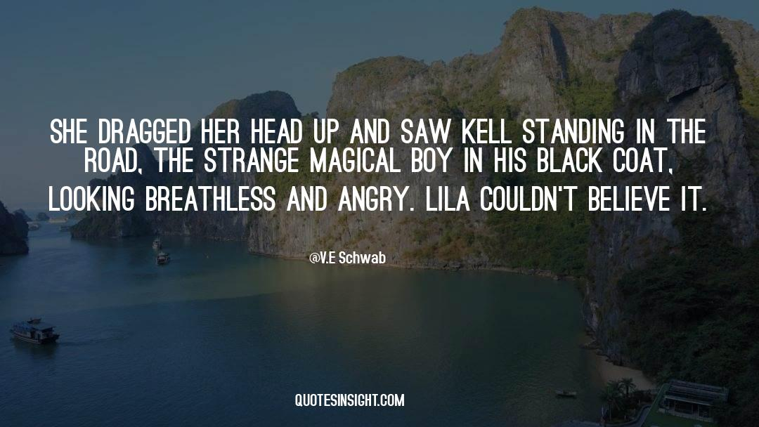 Coat quotes by V.E Schwab