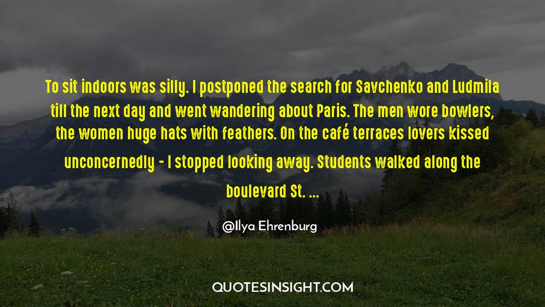 Coat quotes by Ilya Ehrenburg