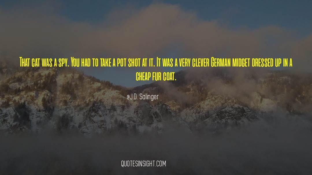 Coat quotes by J.D. Salinger