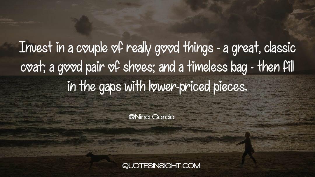 Coat quotes by Nina Garcia