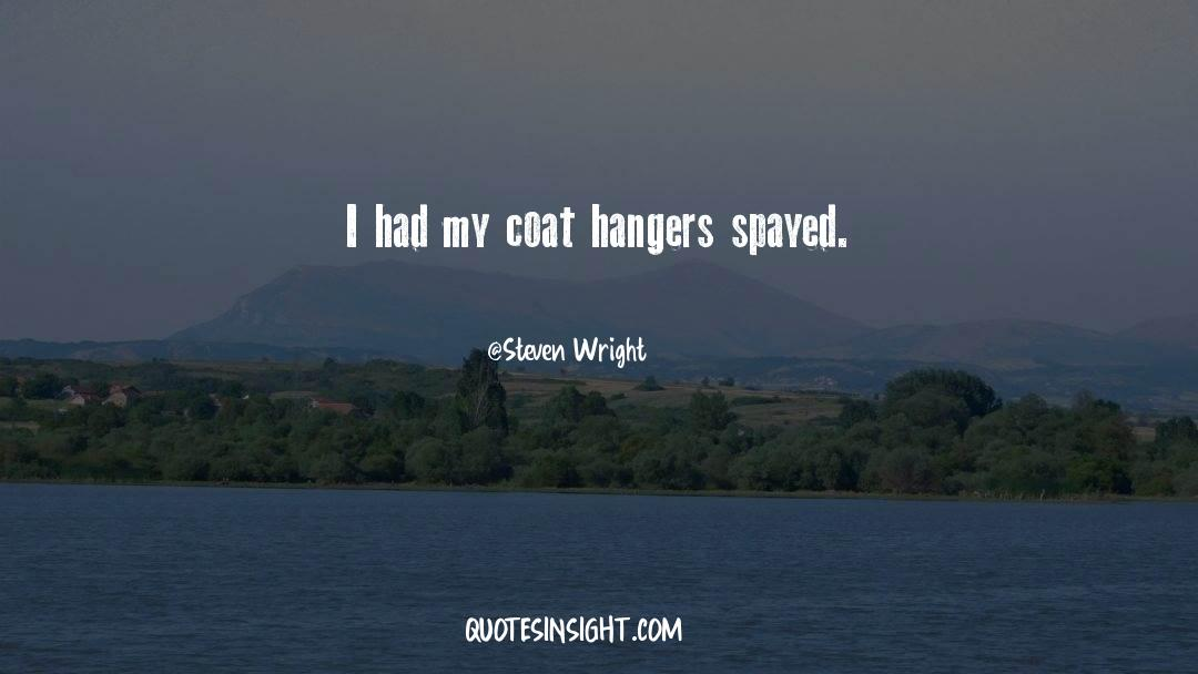 Coat quotes by Steven Wright