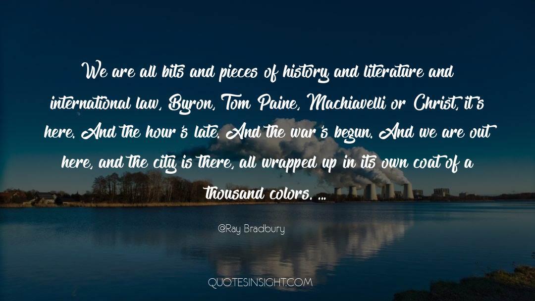 Coat quotes by Ray Bradbury
