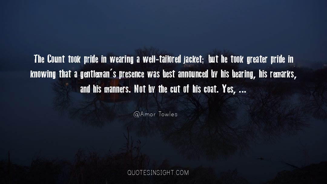 Coat quotes by Amor Towles