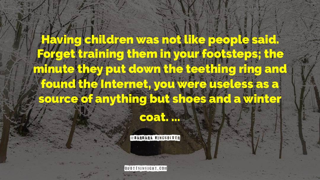 Coat quotes by Barbara Kingsolver