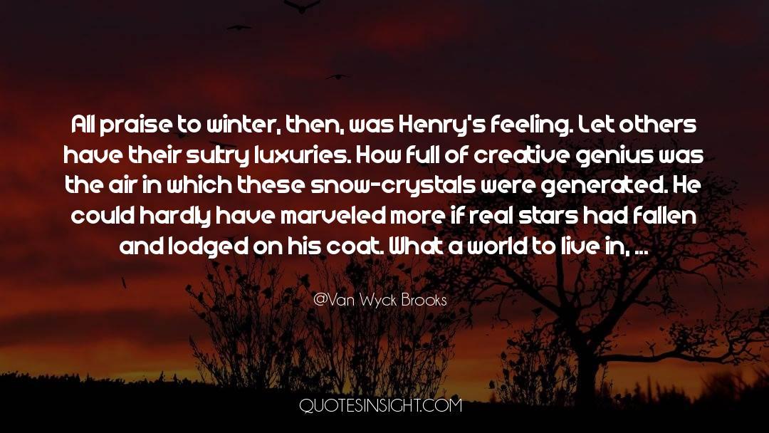 Coat quotes by Van Wyck Brooks