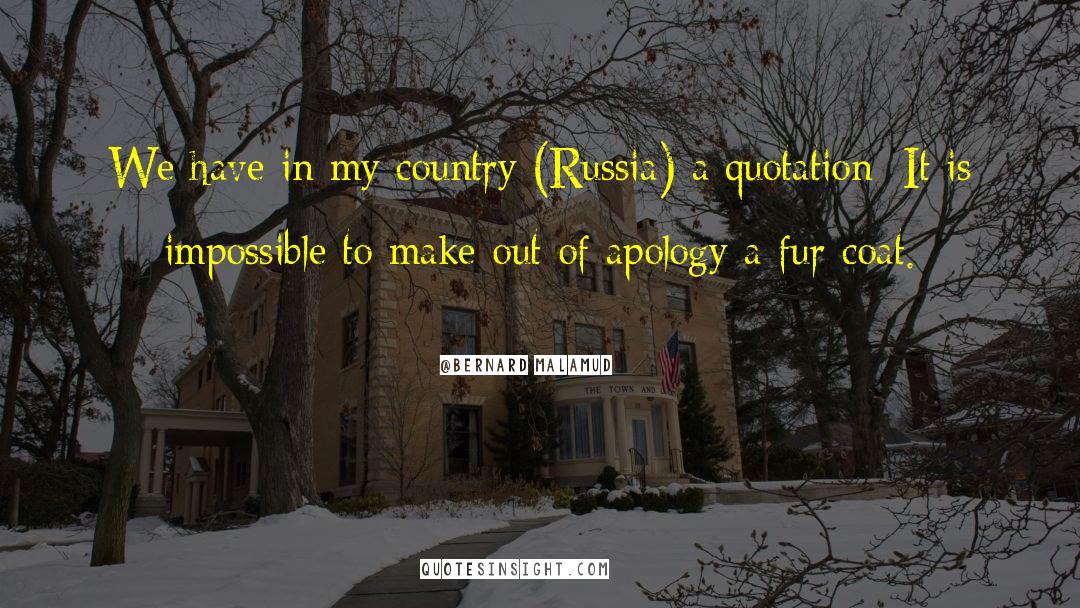 Coat quotes by Bernard Malamud