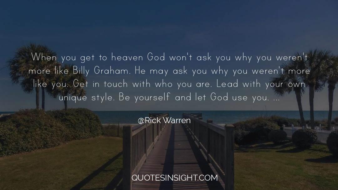 Conversations With God quotes by Rick Warren