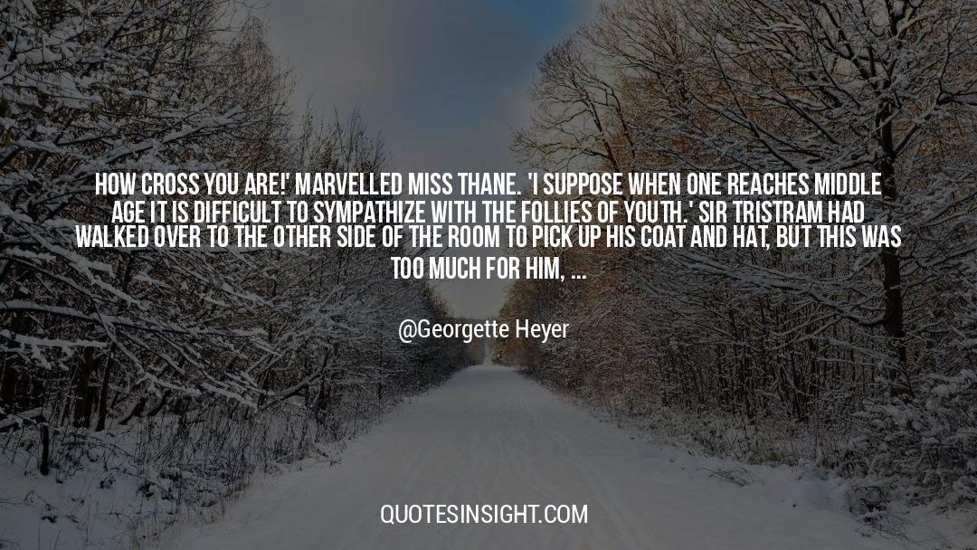 Cross Stitch quotes by Georgette Heyer