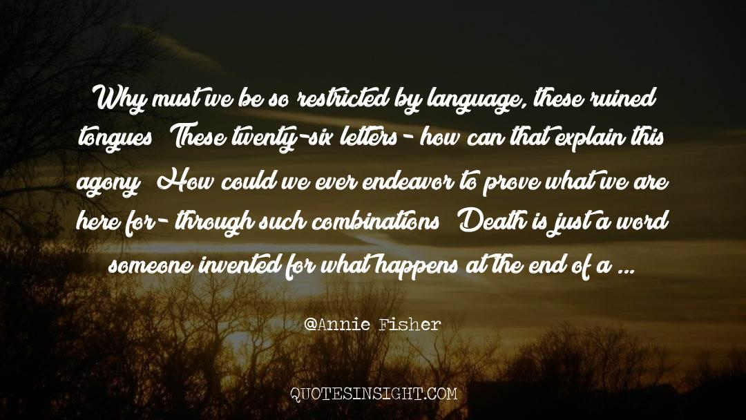 Death Killing quotes by Annie Fisher