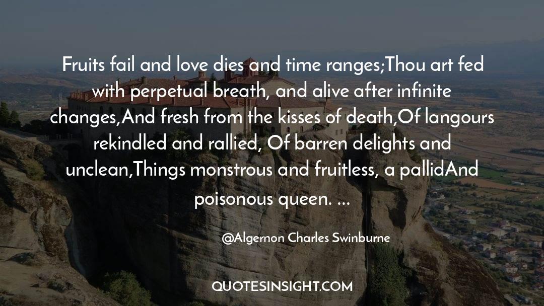 Death Killing quotes by Algernon Charles Swinburne