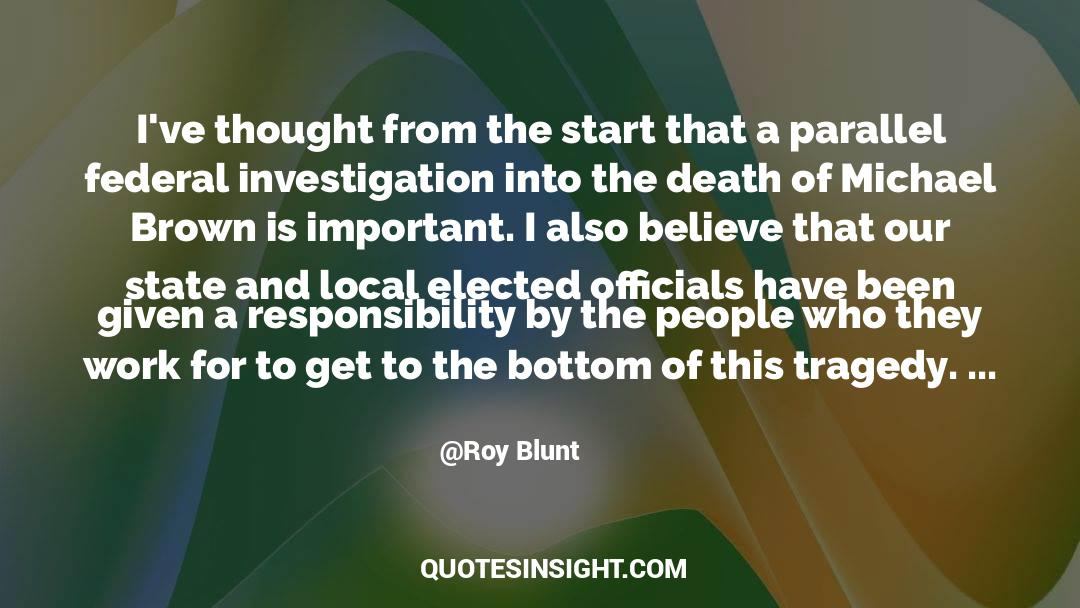 Death Killing quotes by Roy Blunt