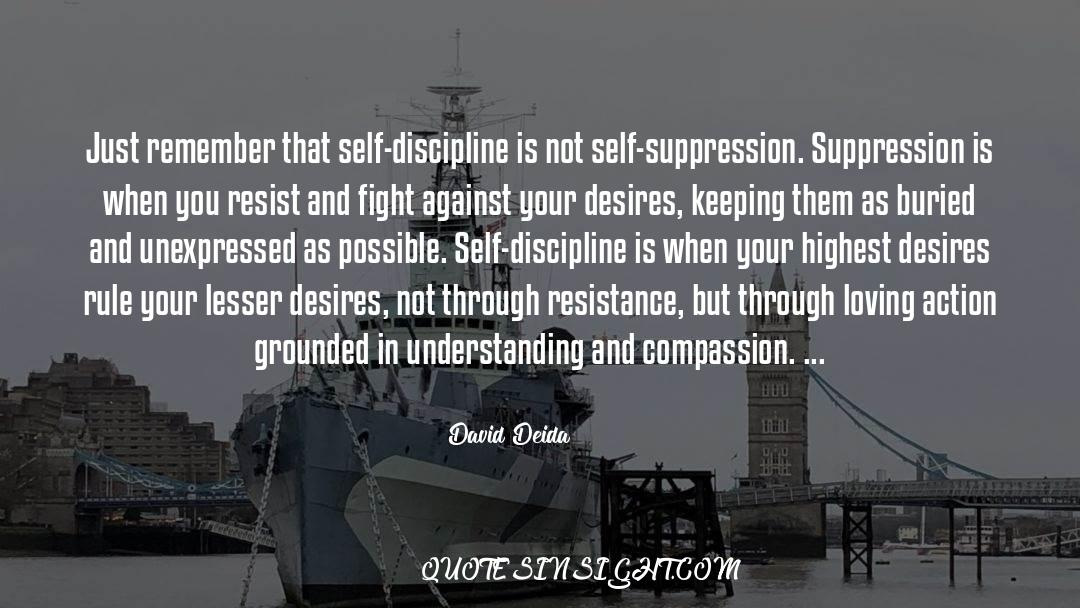 Discipline And Punish quotes by David Deida
