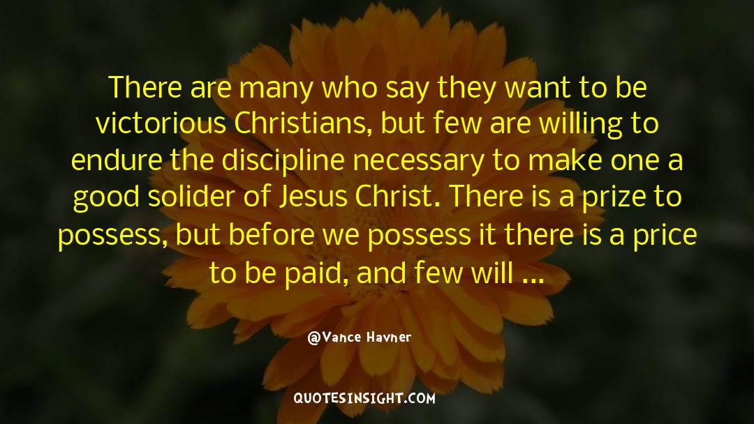 Discipline And Punish quotes by Vance Havner