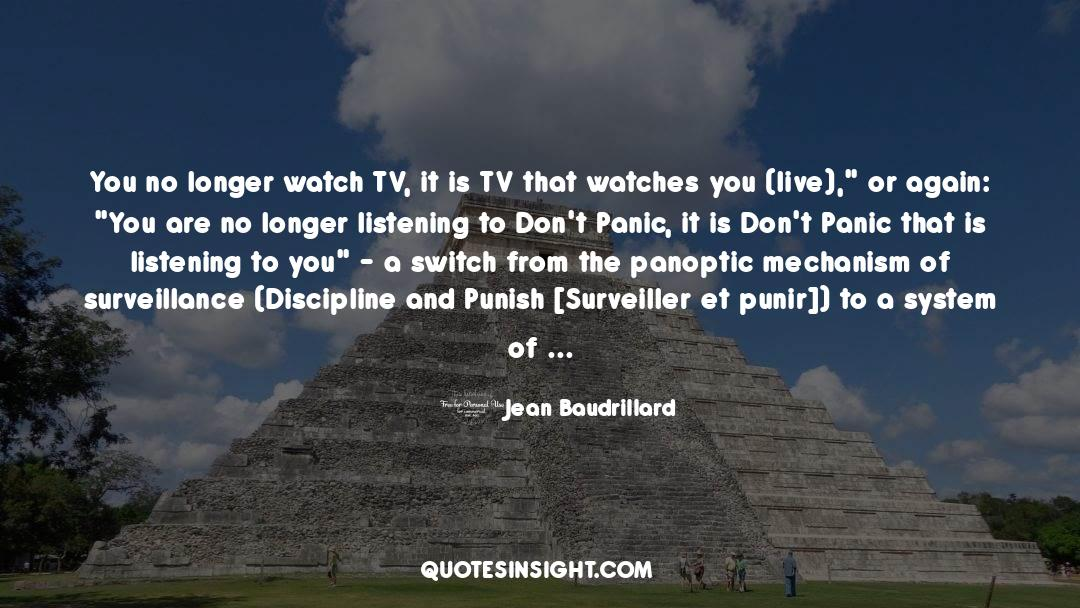 Discipline And Punish quotes by Jean Baudrillard