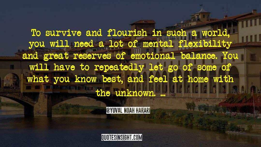 Emotional Balance quotes by Yuval Noah Harari