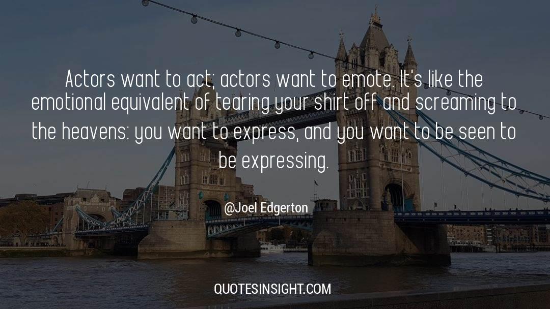 Emotional Balance quotes by Joel Edgerton