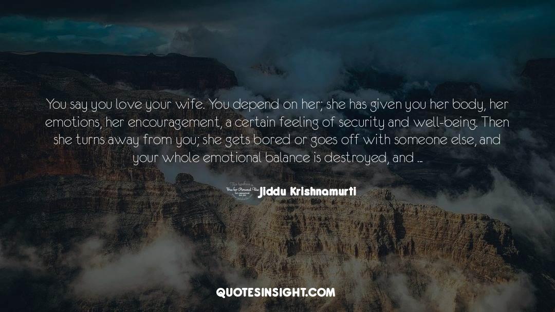 Emotional Balance quotes by Jiddu Krishnamurti