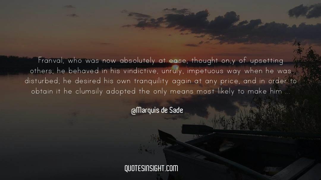 Emotional Balance quotes by Marquis De Sade