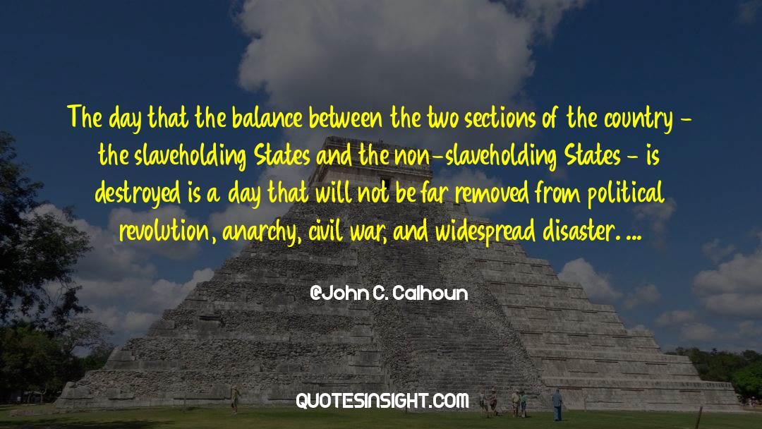 Emotional Balance quotes by John C. Calhoun