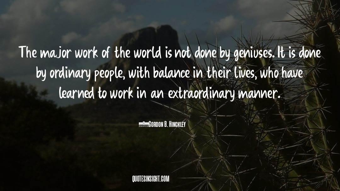 Emotional Balance quotes by Gordon B. Hinckley