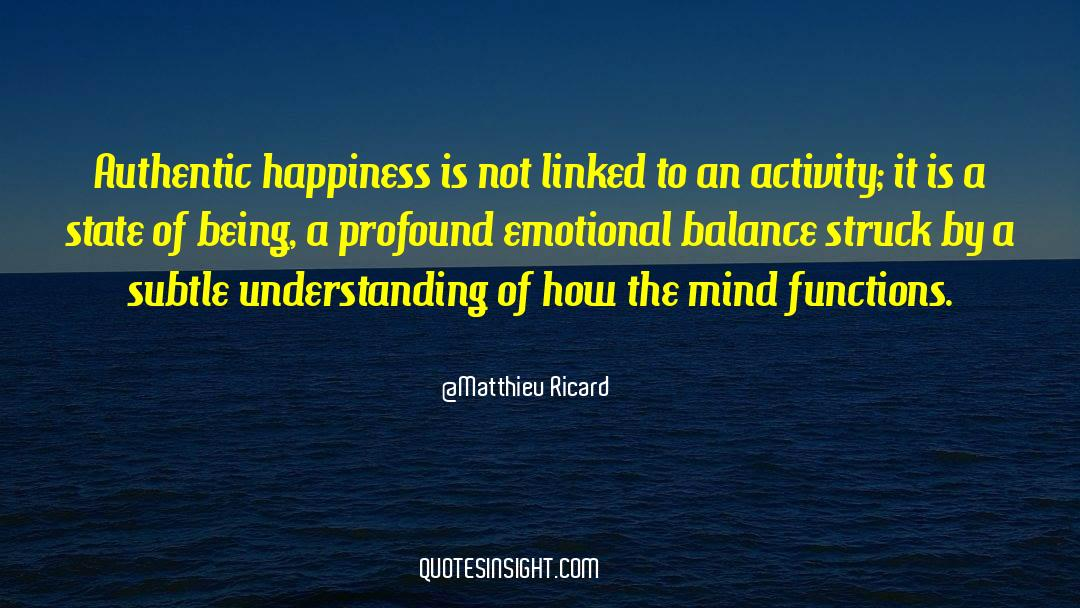 Emotional Balance quotes by Matthieu Ricard