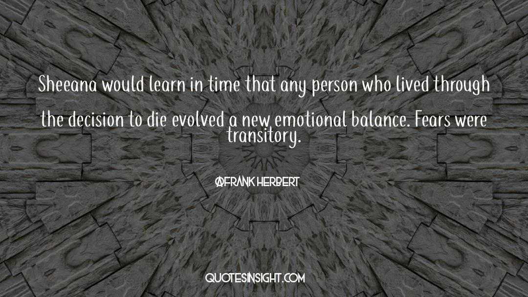 Emotional Balance quotes by Frank Herbert