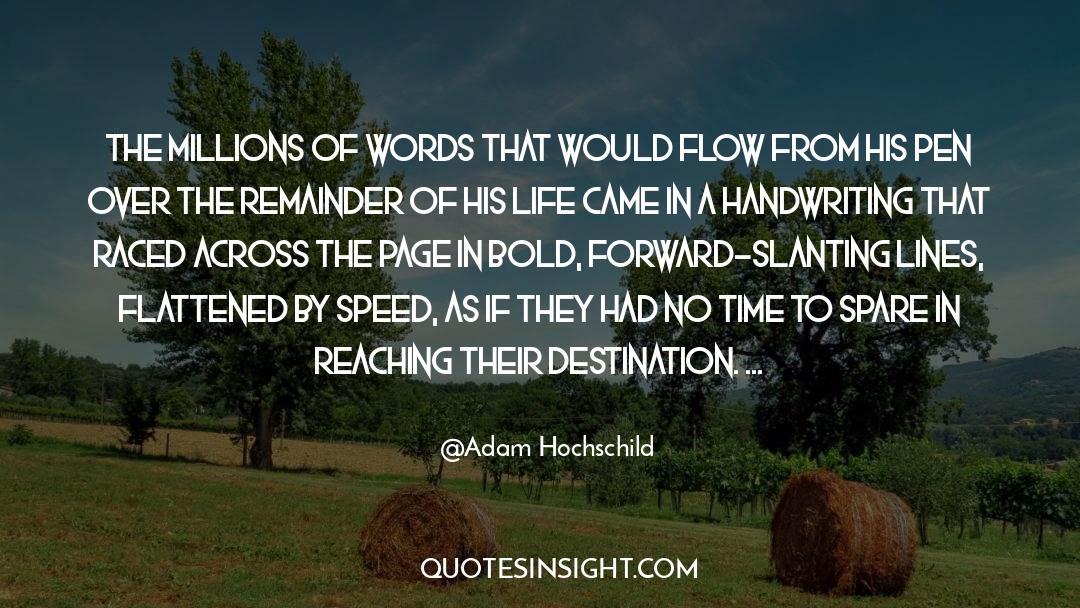 Flattened quotes by Adam Hochschild