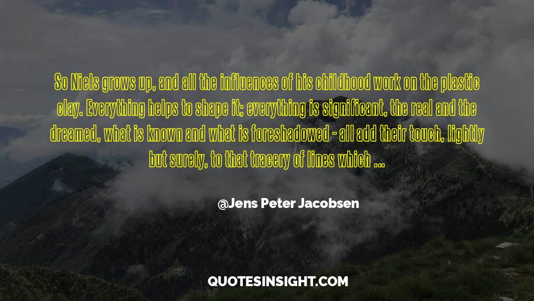 Flattened quotes by Jens Peter Jacobsen