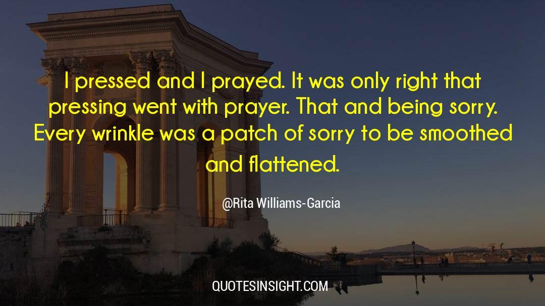 Flattened quotes by Rita Williams-Garcia