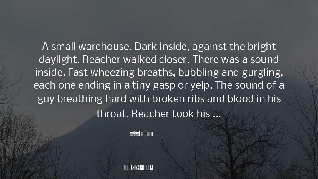 Flattened quotes by Lee Child