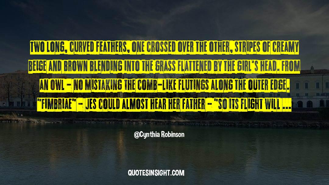 Flattened quotes by Cynthia Robinson