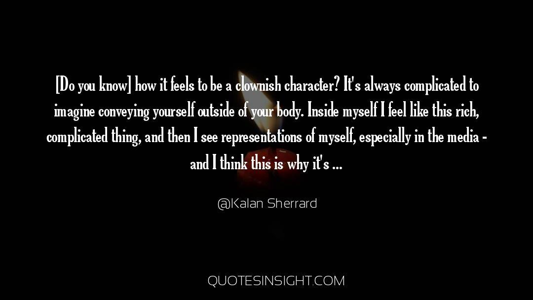 Flattened quotes by Kalan Sherrard