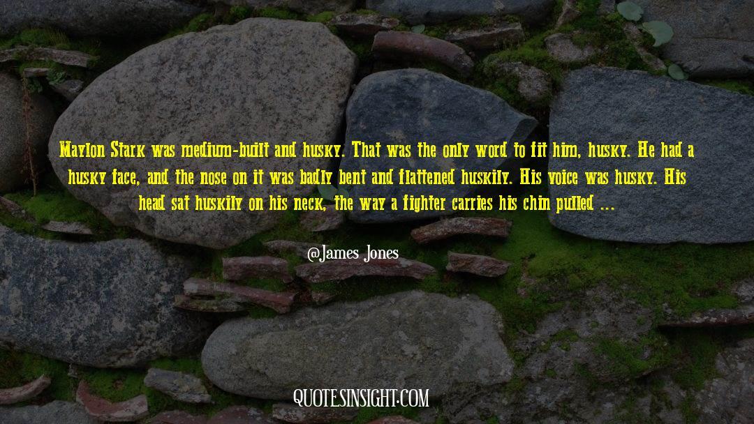 Flattened quotes by James Jones