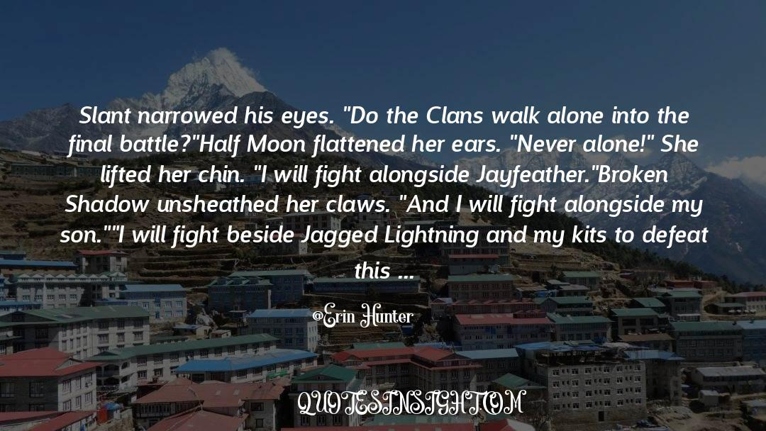 Flattened quotes by Erin Hunter