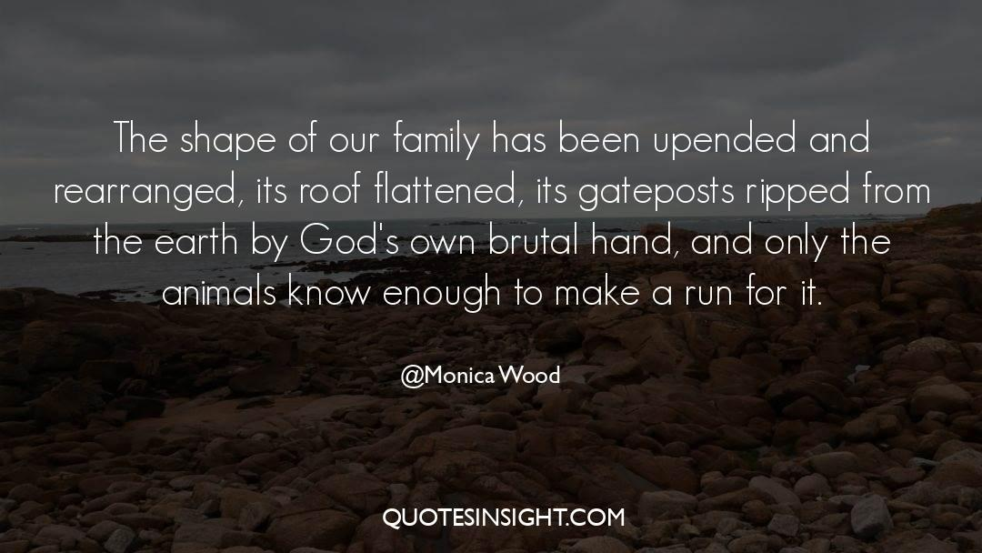 Flattened quotes by Monica Wood