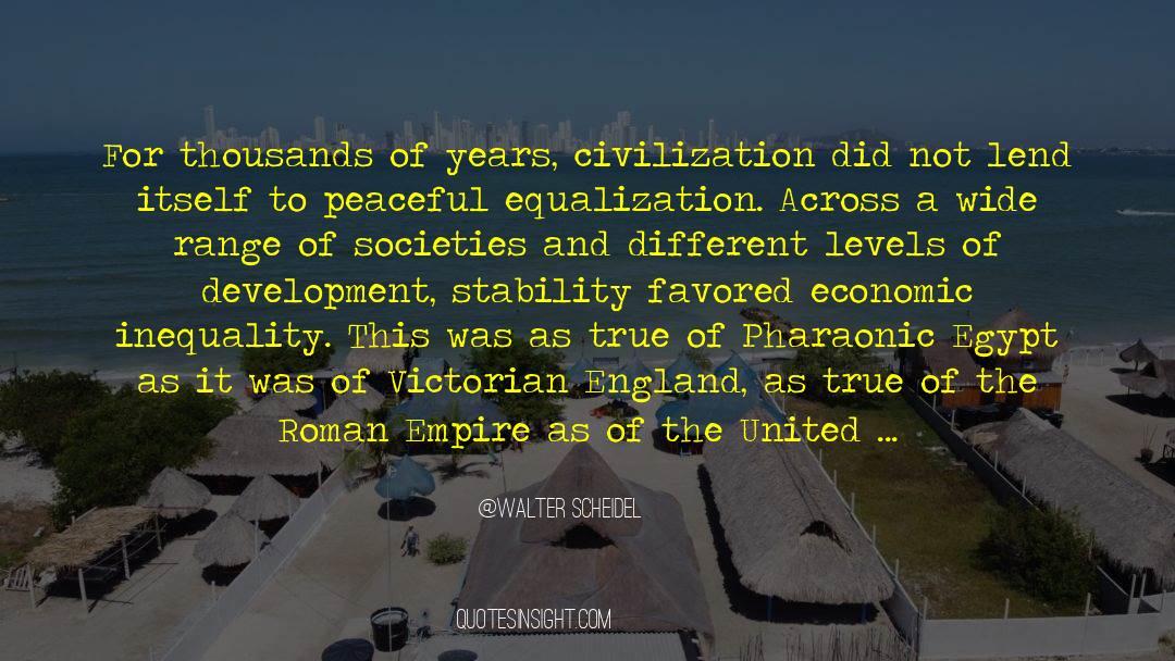 Flattened quotes by Walter Scheidel