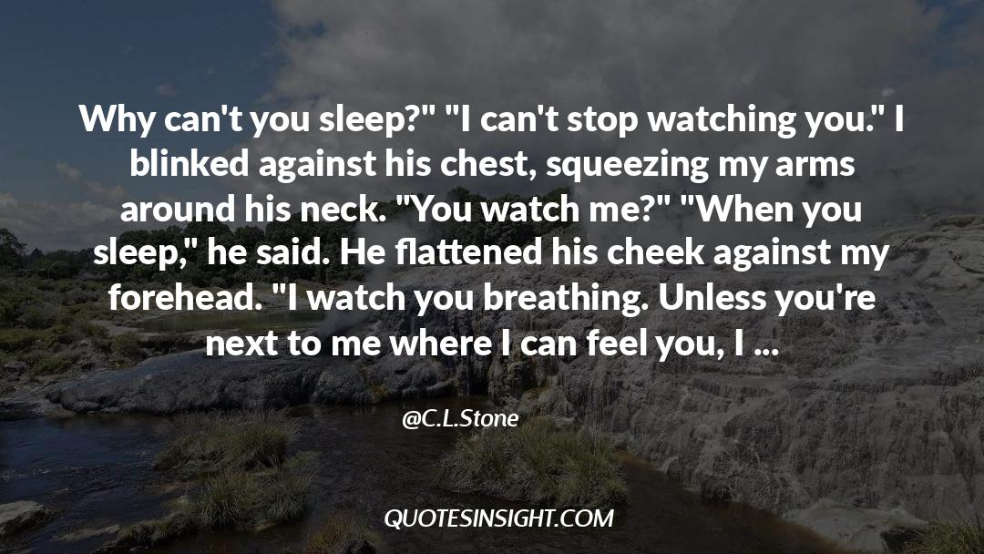 Flattened quotes by C.L.Stone