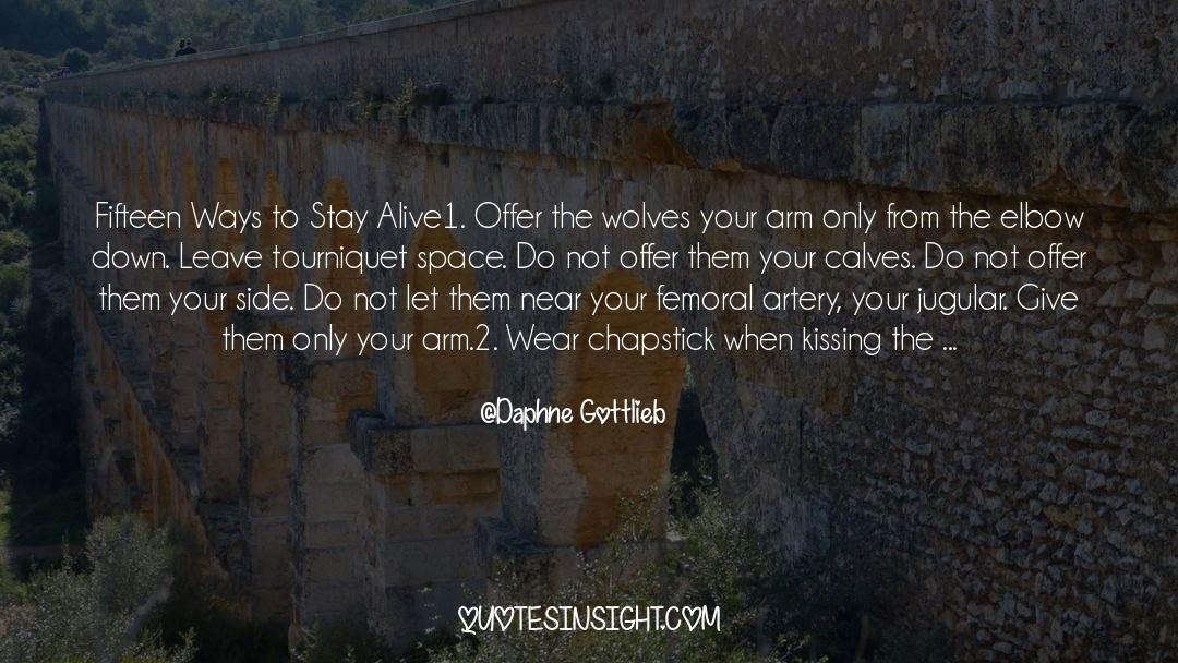 Flattened quotes by Daphne Gottlieb
