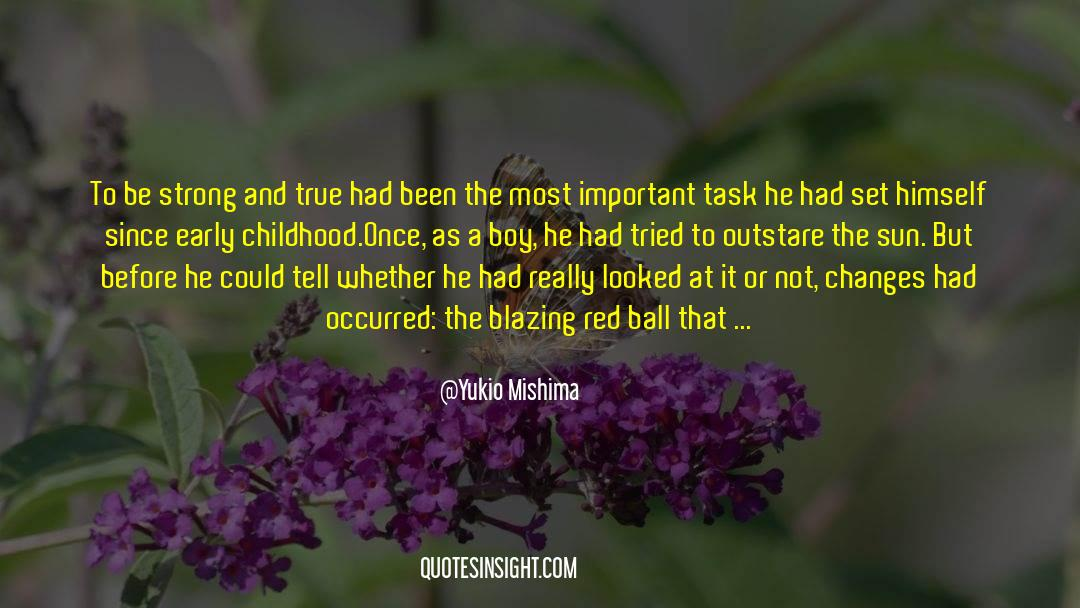 Flattened quotes by Yukio Mishima