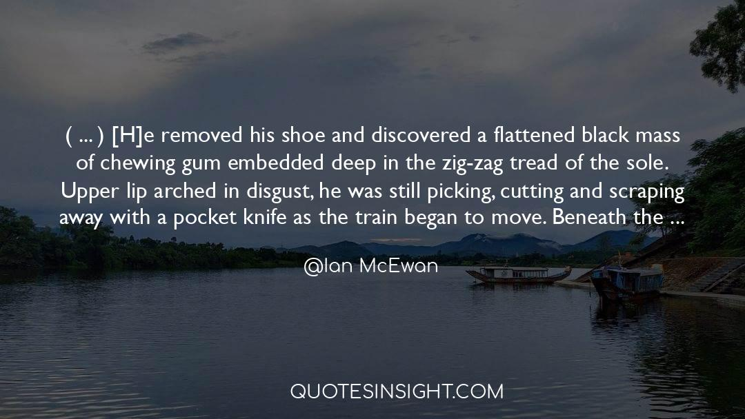 Flattened quotes by Ian McEwan