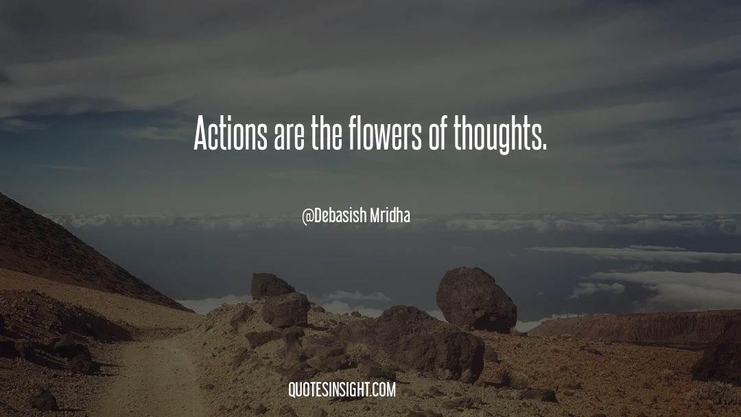 Flowers Of Thoughts Quotes